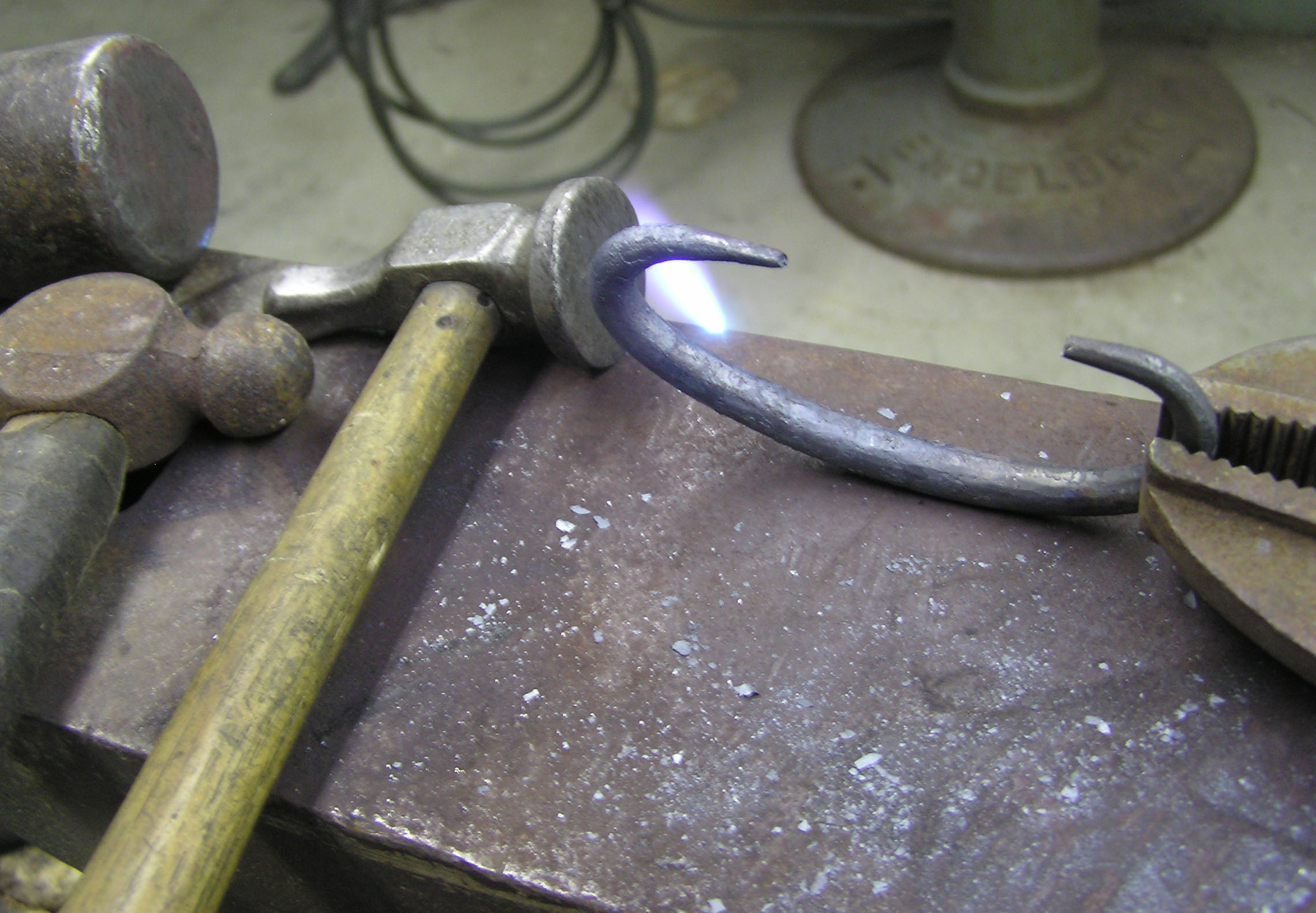 New handle being wrought