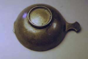Quaich before repair, bottom view